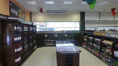 Expositor para Bebidas e Produtos Art-Market ref: art31 - Cristal Aço