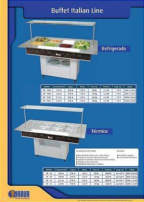 Buffet Italian Line Refrigerado ou Térmico - Jabur