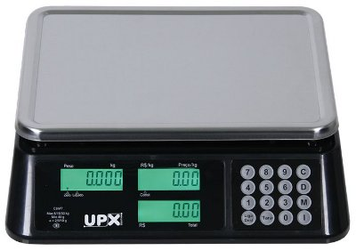 Balança Eletrônica Wind C - Preta 30 kg - Upx Solution