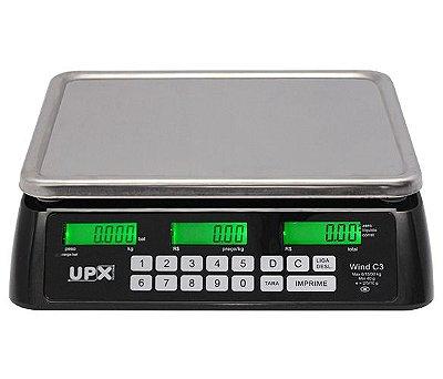 Balança Eletrônica Wind C3 - Preta 30 kg - Upx Solution