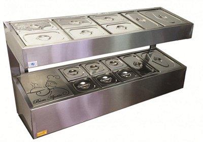 Pizzarola Refrigerada em Aço Inox - Ibet