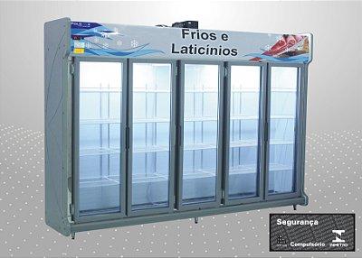 Conveniência premium 3,00 m Refrigeração e exposição - Polofrio