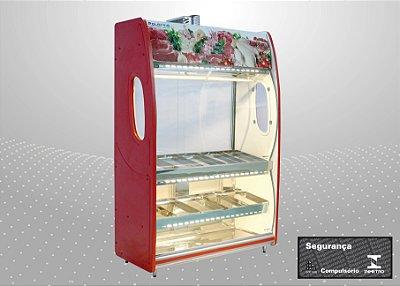 Expositor açougue vitrine de carne premium 1,50 m - Polofrio
