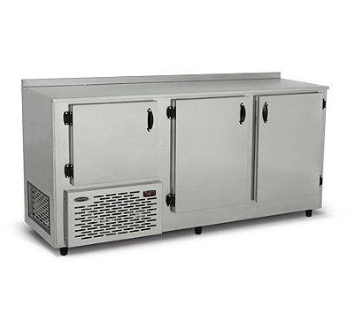 Balcão Refrigerado de Encosto 3 Portas Linha Comercial BRE-190 - Conservex