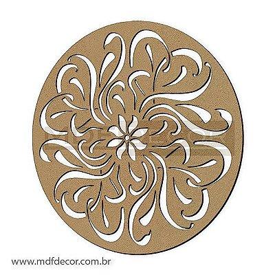 Mand-023 - Mandala Mdf Abstrata Dancing Flower