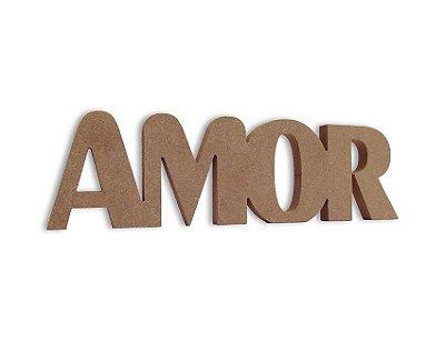 Amor em Mdf Cru 35 Cm x 15 Cm - Modelo 01