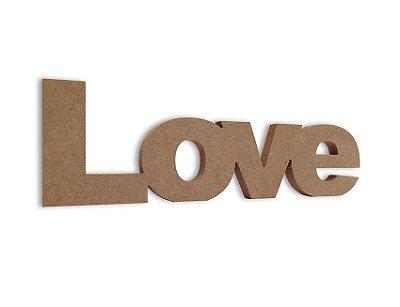 Amor em Mdf Cru 35 cm x 11 cm - Modelo 02
