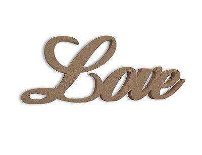 Love em Mdf Cru 35 cm x 13 cm - Modelo 05