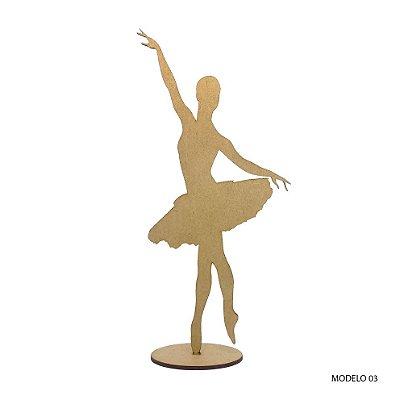 Bailarina Em Mdf Para Decoração - Modelo 03