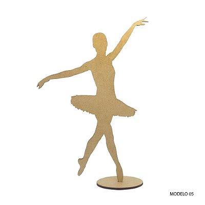 Bailarina Em Mdf Para Decoração - Modelo 05
