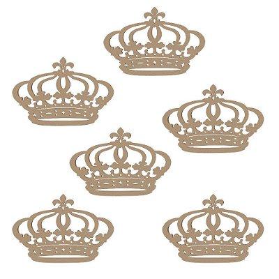 Kit 10 Apliques de coroa em mdf
