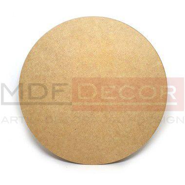 CÍRCULO EM MDF - 50 Cm - Modelo Liso - Corte a Laser - Base ou Tampo - 3 MM