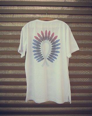 Camiseta Masculina com Estampa Indígena