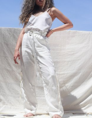 Calça de Linho Off-White