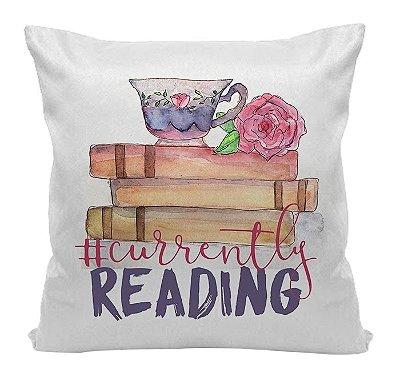 Almofada Bookstagram - Currently Reading