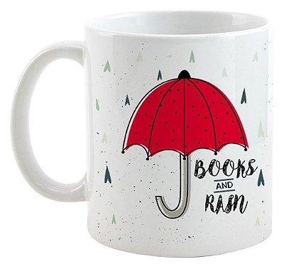 Caneca Bookstagram - Books and Rain