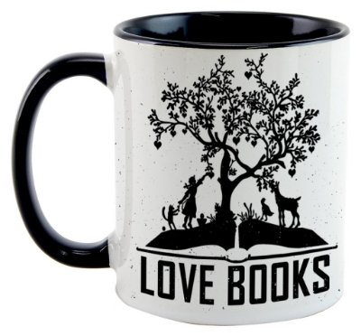 Caneca Bookstagram - Love Books Black