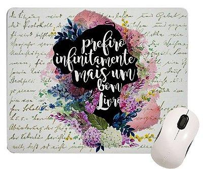 Mouse pad - Frase Elizabeth - Orgulho Preconceito - Jane Austen