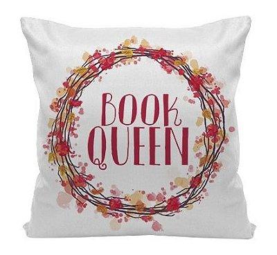 Almofada Bookstagram - Book Queen - Red