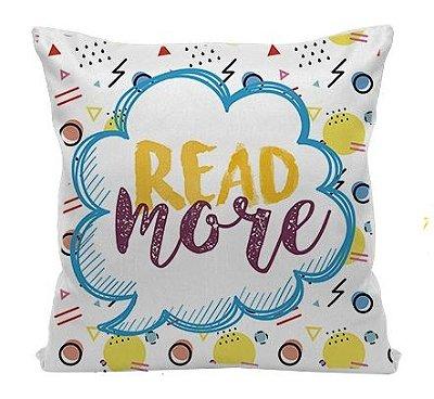 Almofada Bookstagram - Read More - Amarela