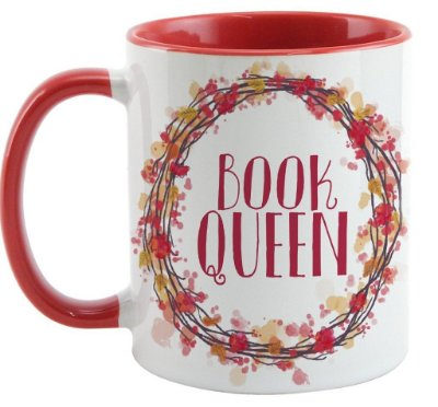 Caneca Bookstagram - Book Queen - Red