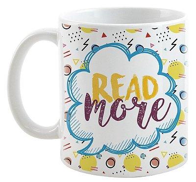Caneca Bookstagram - Read More - Amarelo
