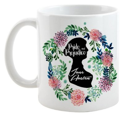 Caneca - Frase -  Jane Austen - Pride e Prejudice - Love You