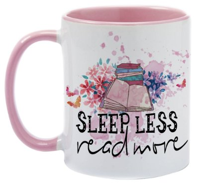 Caneca - Bookstagram - Sleep Less, Read more