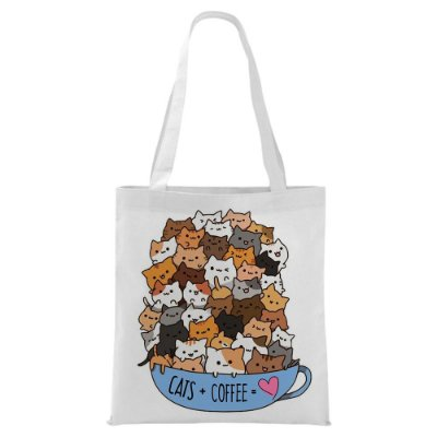 Ecobag - Cats + Coffe