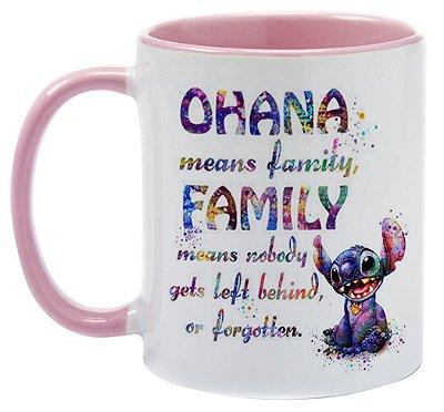 Caneca - Ohana - Aquarela