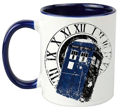 Caneca - Série - Doctor Who - Tardis - Blue