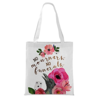 Ecobag - Six of Crows - No mourners no Funerals - Pink