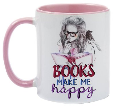 Caneca - Bookstagram- Books make me happy