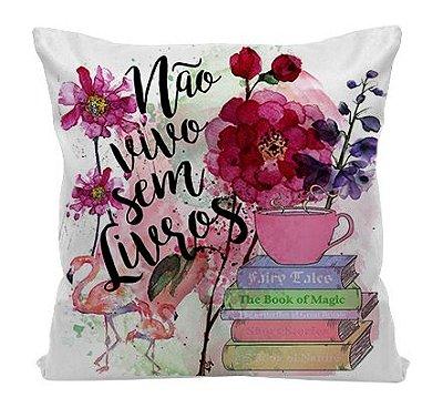 Almofada - Não vivo sem Livros