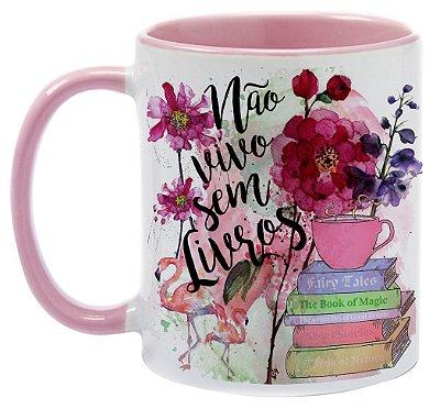 Caneca - Bookstagram - Não vivo sem Livros