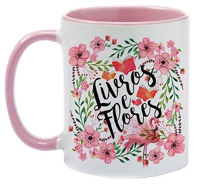 Caneca - Bookstagram - Livros e Flores