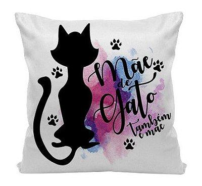 Almofada - Mãe de gato também é Mãe