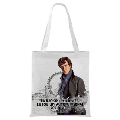Ecobag - Sherlock Holmes - Quote