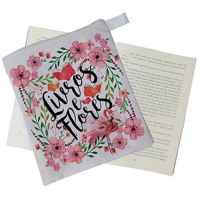 Capinha Livro - Livros e Flores