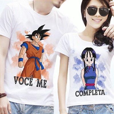 Camisetas - Você me completa - Goku e Chi-chi