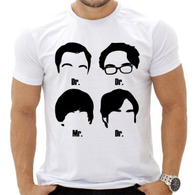 Camiseta Masculina - The Big Bang Theory - Personagens