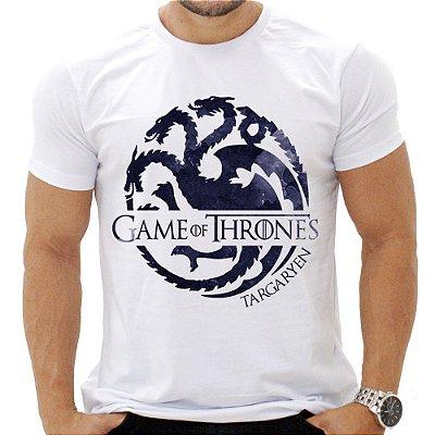 Camiseta Masculina - Gameof Thrones - Casa Targarien