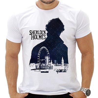 Camiseta Masculina - Sherlock Holmes - Blue