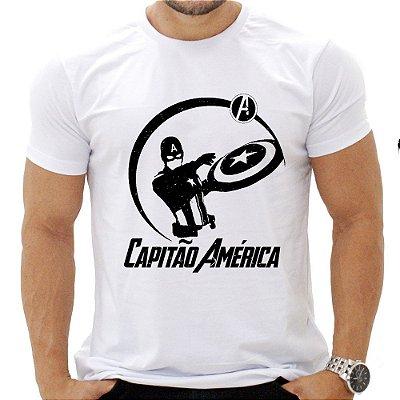 Camiseta Masculina - Capitão América