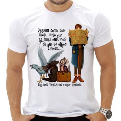 Camiseta Masculina - Animais Fantásticos - Quote
