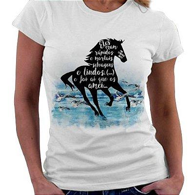 Camiseta Feminina - Livro The Scorpio Races
