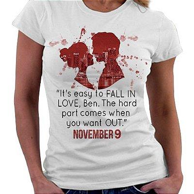 Camiseta Feminina - Livro November 9