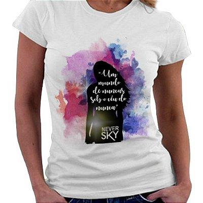 Camiseta Feminina - Livro Never Sky
