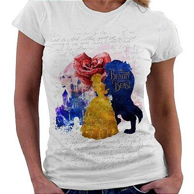 Camiseta Feminina - A Bela e a Fera - Silhuetas