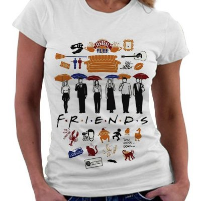 Camiseta Feminina - Série Friends - Elementos